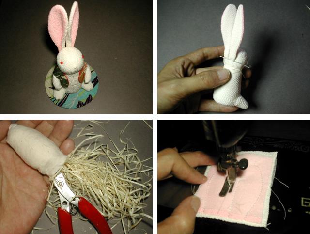 手作りうさぎ人形